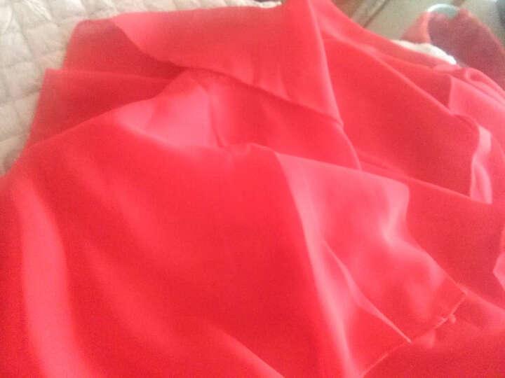 玫缪大码女装连衣裙2018春夏装新款韩版时尚加肥加大胖MM宽松显瘦遮肚层层雪纺蛋糕裙 红色 M建议95斤以下 晒单图