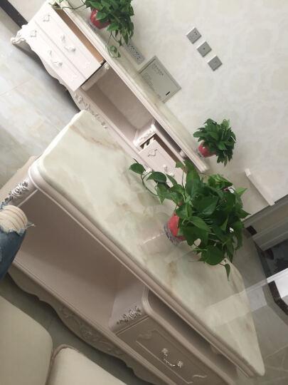 日月鑫  欧式大理石电视机柜茶几组合套装 大小户型法式客厅家具 木材台面 电视柜+1.2米茶几 晒单图