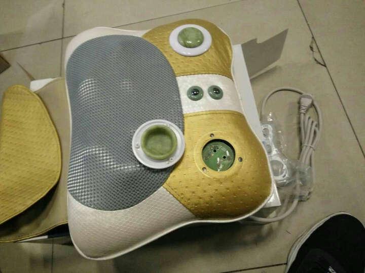 盛世阳光颈椎按摩器颈部肩部腰部腿部按摩垫按摩枕头仪家用多功能颈肩按摩垫 K-838E-2玉石 晒单图
