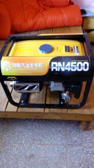 润南220V 4/5/6/8KW千瓦家用小型汽油发电机单相纯铜线电机组四冲程 4千瓦 手启动 汽油款 晒单图