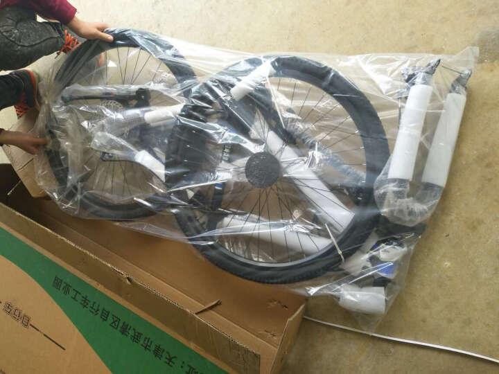 阿米奇(amq) 铝合金21/30速自行车山地车男女学生双碟刹变速公路单车 豪华便携折叠系列-悍马黑红 21速顶配 晒单图