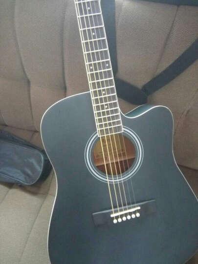 艾薇儿(Avril) 40寸41寸民谣吉他哑光黑色原木色初学者新手入门电箱免费刻字货到付款 41寸黑色电箱 晒单图
