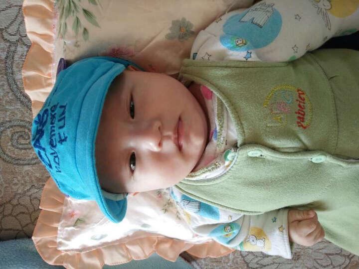 公主妈妈 春秋冬婴儿帽子四季男女宝宝帽儿童帽子婴儿鸭舌帽遮阳帽 鸭舌小猫 (米色) 晒单图