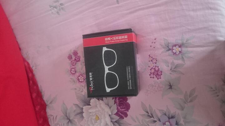 普莱斯(pulais)眼镜框男碳纤维全框近视防辐射眼镜架女6004 黑色(三仓发货 配度数拍其他项) 晒单图