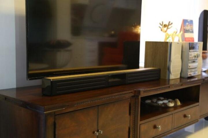 万音(JY AUDIO) 回音壁虚拟5.1家庭影院无线蓝牙铝合金壁挂HDMI高清电视音响 A51土豪金色 晒单图