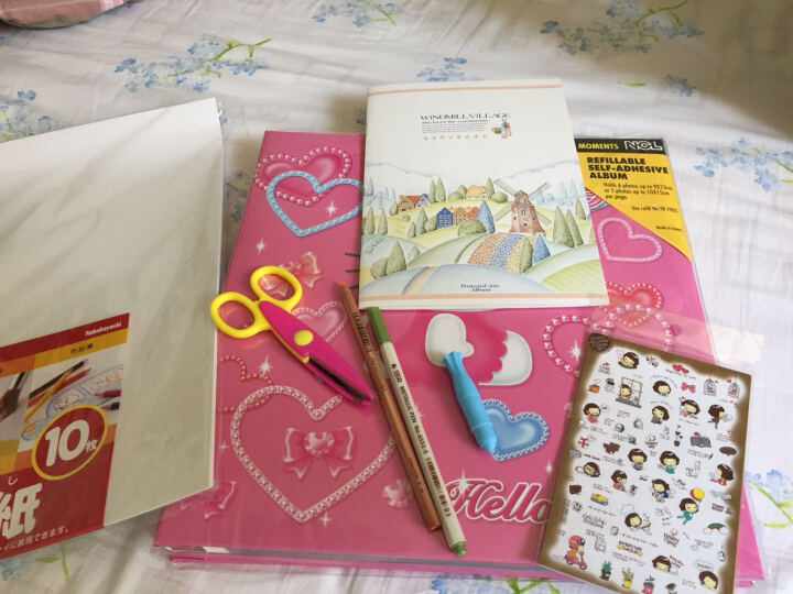 日本NCL KT猫粉色 NCL卡通相册/DIY覆膜粘贴式相册/影集 LP-105【原装进口】 晒单图