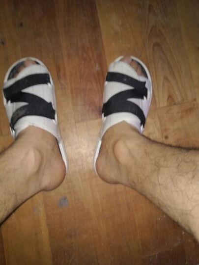 2016年春夏季新款男拖鞋一字拖沙滩鞋时尚潮流凉拖男Z1A001 黑绿 40 晒单图
