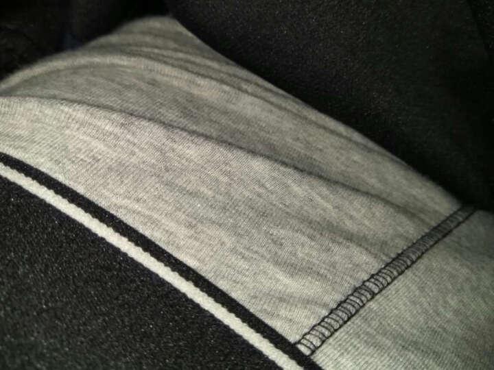 美特斯邦威内裤男士舒适撞色弹力柔软透气低腰平角内裤265724 正黑 185/110 晒单图