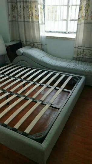 艾嘉图 智能USB充电高箱储物床1.5米卧室现代烤漆板式双人床1.8米 裸床(送USB插座) 1500mm*1900mm 晒单图