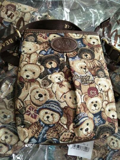 DANNY BEAR丹尼熊2016女包秋冬季新款休闲单肩包配斜挎包双肩包套装组合子母包 咖啡绿 晒单图