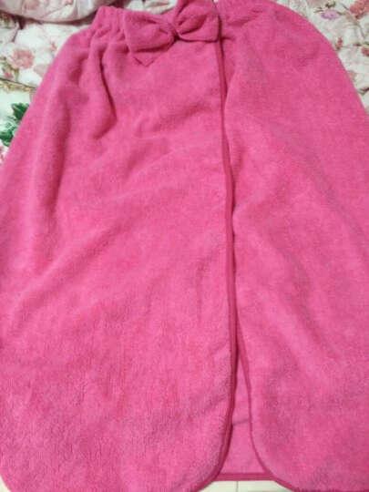 名佑 浴巾 百变浴巾 可穿浴巾 强吸水百变魔术浴袍 多款选择  男女通用款 新款玫红色蝴蝶结(带口袋) W 晒单图