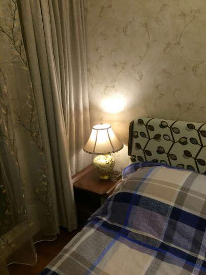 圣玛帝诺 手绘欧式台灯卧室床头灯奢华酒店客房样板间客厅装饰台灯 AV-1253小号黄色按钮 晒单图
