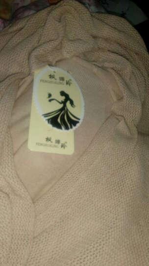 枫嬅玲针织衫女2018秋冬装新款女装纯色中长款镂空披肩外套薄针织衫女8717 5518军绿 均码 晒单图