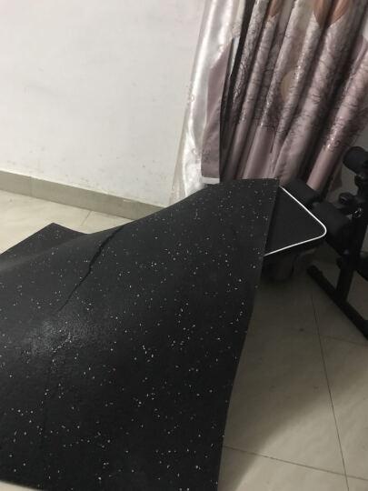 KYLIN 健身房橡胶地垫隔音垫缓冲地板减震垫杠哑铃垫子抗摔耐用 升级款地垫(表面灰色EPDM颗粒+耐UV清洁涂层) 晒单图