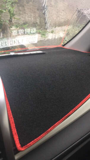 美克杰 丰田RAV4威驰汉兰达雷凌卡罗拉普拉多凯美瑞避光垫 中控仪表台防晒遮光垫 新普拉多/霸道10-16款 带不带音响 普通款-黑边 晒单图