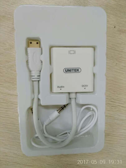 优越者(UNITEK)Mini HDMI转VGA转换器带音频 迷你高清转接器 平板电脑电视投影仪显示器连接线Y-5323WH 晒单图
