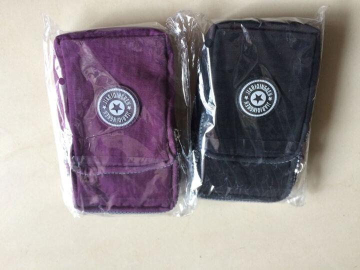 baellerry 新款手机女斜挎包大屏手机袋零钱包挂脖手腕包跑步竖款迷你小包 深紫色 晒单图