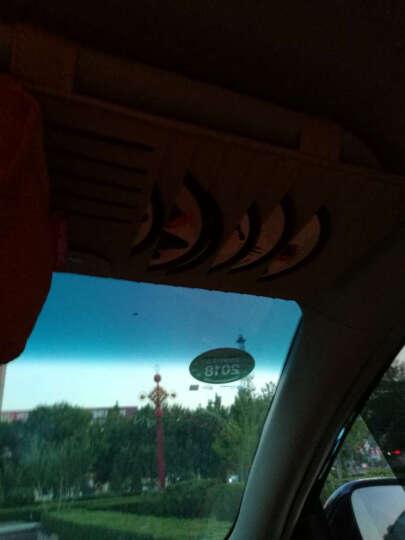 轩之梦汽车cd夹遮阳板套多功能车用光盘碟片套收纳袋车载cd包汽车用品汽车装饰 CD夹带纸巾-沉稳黑 晒单图