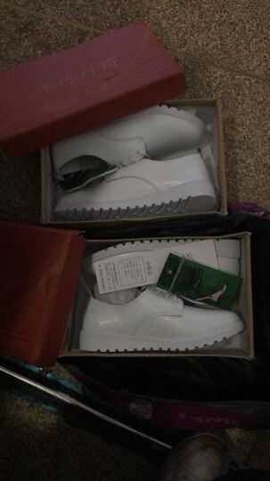 圣诗丹特小白鞋女鞋休闲鞋系带鞋子 女真皮平跟平底小白鞋女平底鞋JQY9915 白色 37 晒单图