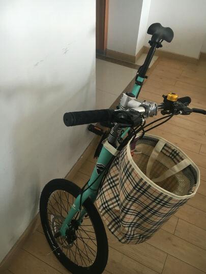 T7山地车自行车21速20寸禧玛诺变速通勤单车学生成人男女士儿童学生时尚轻便复古小轮自行车 青色 晒单图