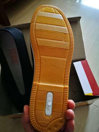 圆口老北京布鞋防滑牛筋底老头鞋舒适轻便爸爸工作鞋子CCJSM2684 黄底圆口 42 晒单图