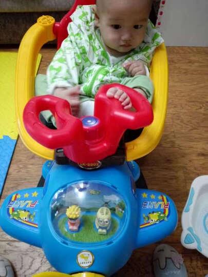 LEKANG 乐康儿童电动车三轮摩托车男女宝宝小汽车婴幼儿玩具四轮手推车小孩可坐人充电童车 精灵蓝(玫红色遮阳蓬+大电瓶) 晒单图