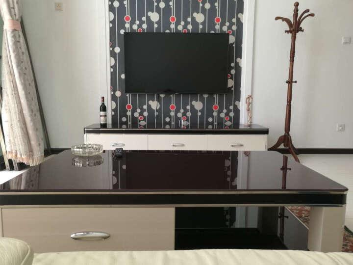 家家欢 简约现代电视柜 钢化玻璃 烤漆 客厅电视柜 地柜 电视机柜1366 单个电视柜 晒单图