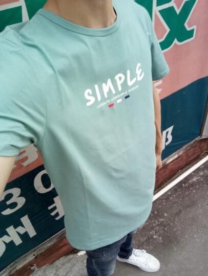 AEMAPE 苹果 短袖T恤男 2018春装新款韩版纯色修身圆领男士短袖T恤衫 C-120黑白条纹 XXXL 晒单图