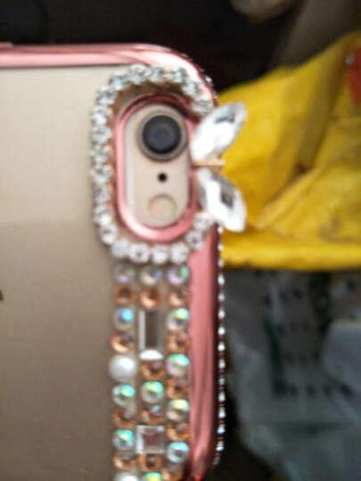FKM 苹果6s手机壳女挂绳iphone6s保护套水钻全包防摔软 适用于6/6splus plus5.5英寸-玫瑰金开屏孔雀支架 晒单图