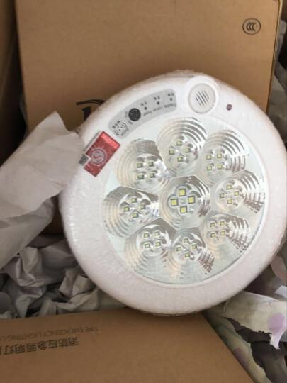 东君 消防应急led灯现代简约红外线人体感应吸顶灯led声光控楼道灯 220直径9W应急 晒单图