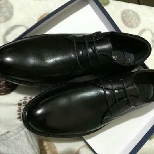 奥康皮鞋 春季新品商务休闲鞋系带正装鞋英伦风内增高男士皮鞋真皮结婚鞋子男 棕色四季款 38 晒单图