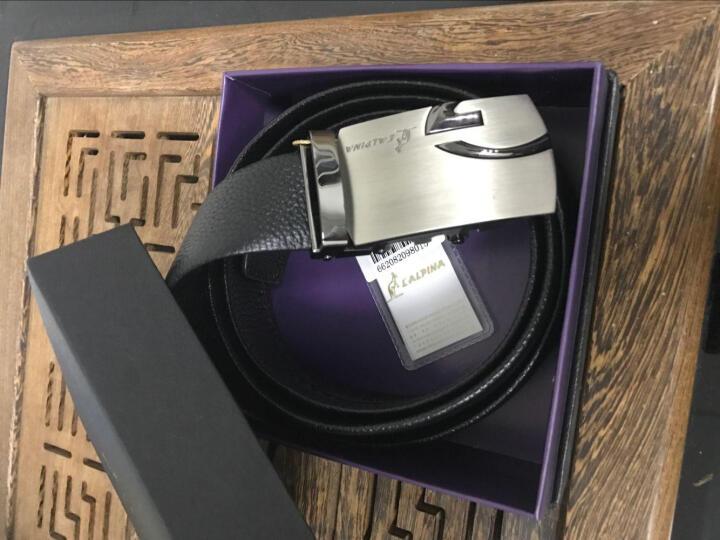 意大利L'ALPINA 袋鼠新款 皮带 男 真皮 商务自动扣男士休闲牛皮腰带礼盒 671082006啡色--默认发蕞长尺寸 晒单图