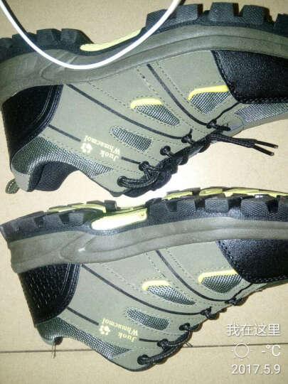 通克 劳保鞋男 安全鞋工作鞋透气电工焊工厨师绝缘夏季徒步登山鞋 军绿色 41 晒单图