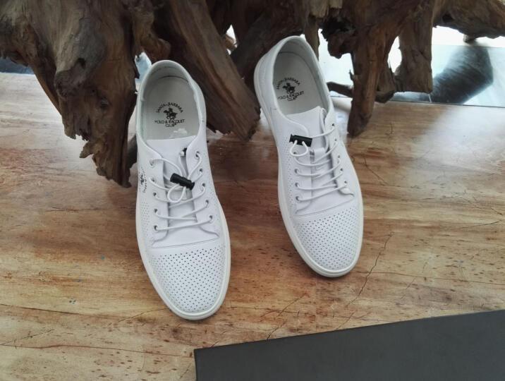 圣大保罗休闲鞋男鞋夏季透气运动休闲鞋子男时尚韩版潮流男板鞋 白色-皮鞋尺码 38 晒单图