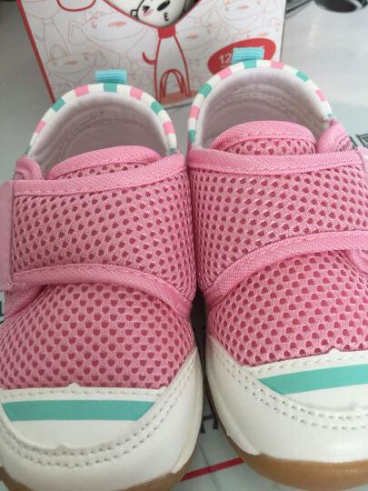 迪士尼 Disney 宝宝学步鞋 软底幼儿童休闲鞋单鞋7109荧光绿135mm/内长135mm 晒单图