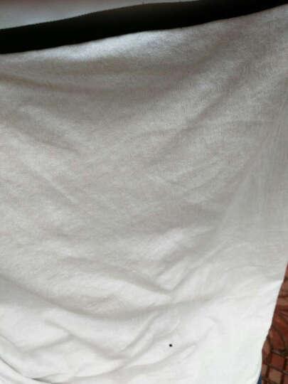 花花公子贵宾 短袖T恤男 2017夏款圆领时尚休闲修身纯色纯棉衣服男印花T恤男装 7025白色NEW XL 晒单图