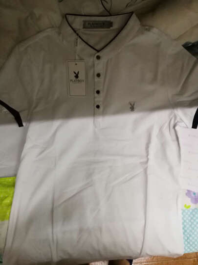 花花公子男士长袖T恤 秋季新品圆领修身 打底衫男装小衫上衣潮 酒红 175/XL 晒单图