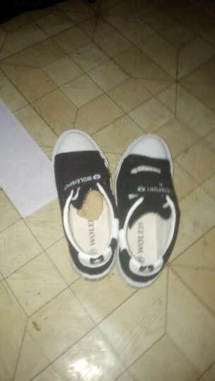 QQQ 2016春情侣帆布鞋女韩版魔术贴低帮小白鞋平底学生休闲鞋-AC22 黑色 41 晒单图