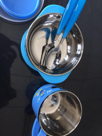 迪士尼(Disney) 迪士尼婴儿碗儿童餐具宝宝双耳碗汤勺叉子牛奶杯套装小孩不锈钢辅食训练碗马克杯 米奇 2078双耳碗+杯+勺 晒单图