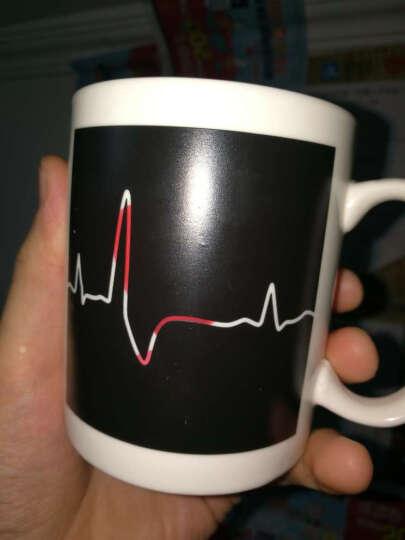 创意变色热转印杯子马克杯个性遇热变色感温咖啡陶瓷水杯生日礼物 心电图杯 晒单图