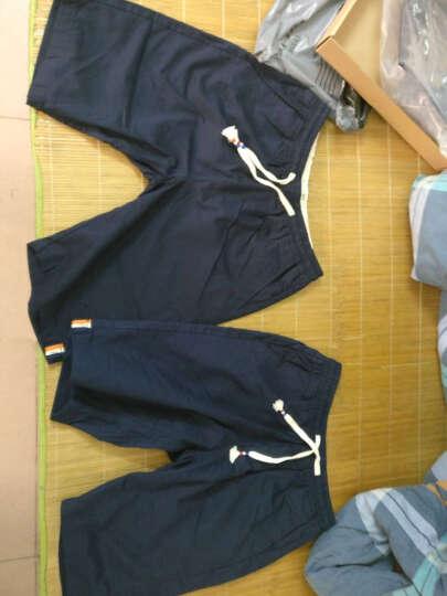 百酷源 短裤男士2017夏装五分裤男沙滩裤夏薄款D591 蓝色 XXL 晒单图