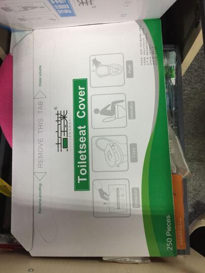 洁宝莱 一次性马桶垫 坐垫纸坐厕纸座便纸溶水型250片装马桶纸坐便垫纸 一箱20盒装 晒单图