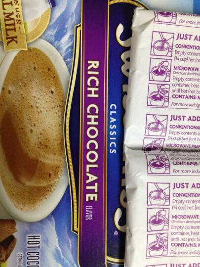 美国进口 瑞士小姐 (SWISS MISS)牛奶巧克力冲饮粉 280g 晒单图
