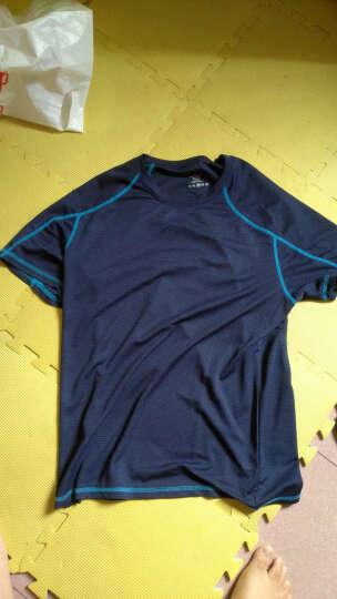 JeEpic JEEPic户外速干短袖T恤男女速干衣透气情侣夏季男运动短袖T恤速干跑步 深蓝色-男款 XL 晒单图