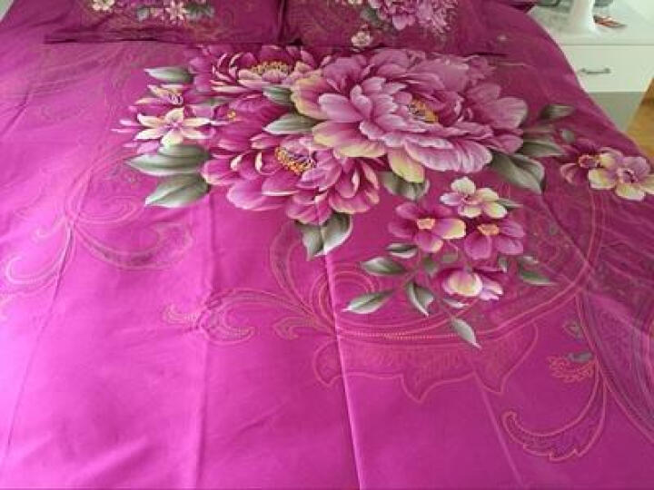 旭蔷家纺 床上用品 床品套件 四件套全棉纯棉数码印花四件套 似水柔情 1.5/1.8米床适用200*230cm被套 晒单图
