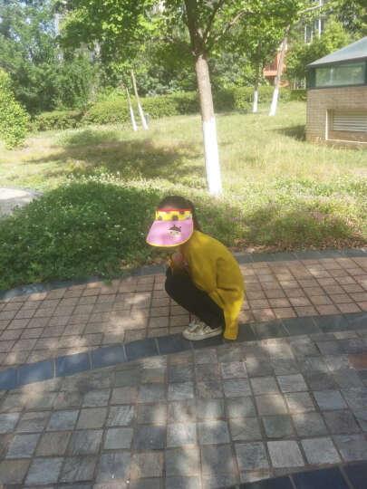 hugmii儿童帽子夏天卡通可爱男女童休闲空顶帽防紫外线太阳帽 蜜蜂 晒单图