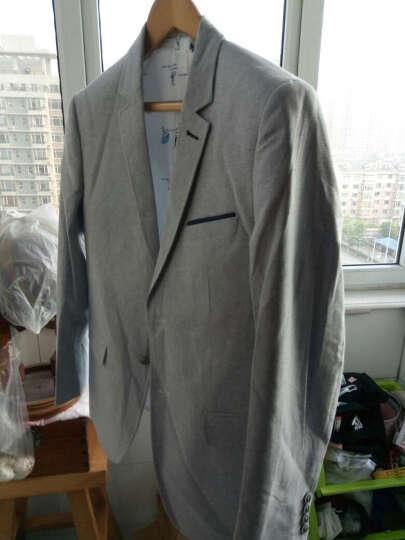 阿仕顿(Artsdon)春季新品男士西服浅色休闲两粒扣便西修身西装A1040020 灰白色 175/92A 晒单图