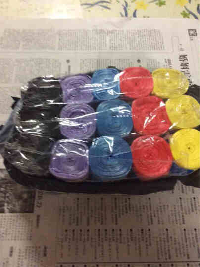 喜家家 家用垃圾袋点断式45*50cm 混色 5卷装/150只 晒单图