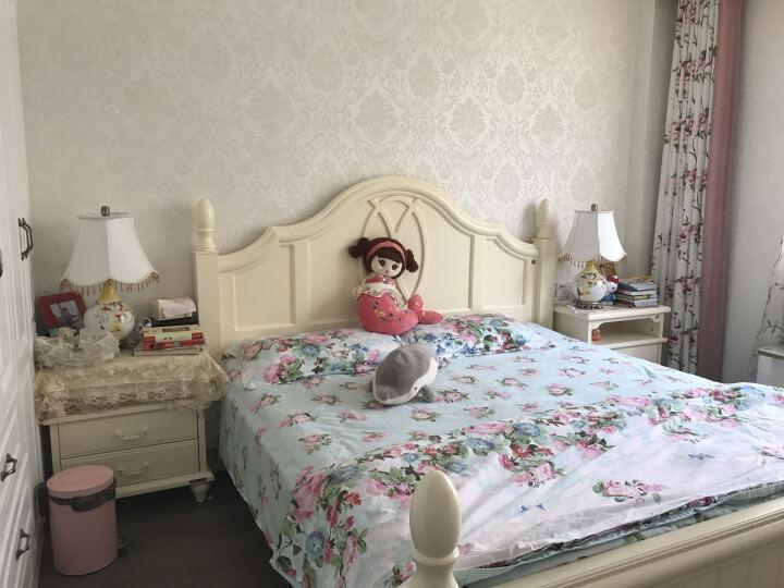 繁登堡(fandengbao)欧式台灯卧室床头灯美式礼品礼物田园创意定制结婚庆温馨客厅节日装饰灯 晒单图