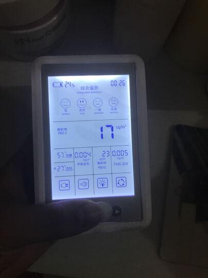 绿润测甲醛检测仪器家用200㎡车用pm2.5空气测试仪便携式充电款自动检测动态监测活性炭除甲醛效果警报提醒 晒单图